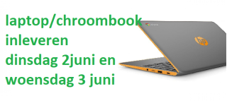 laptops/chroombooks inleveren