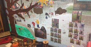 Herfstsfeer bij de voorschool